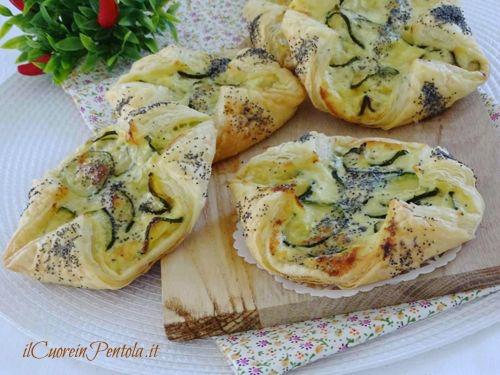 fagottini di sfoglia zucchine e ricotta ricetta