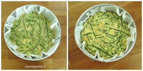 cuocere frittata di asparagi in forno