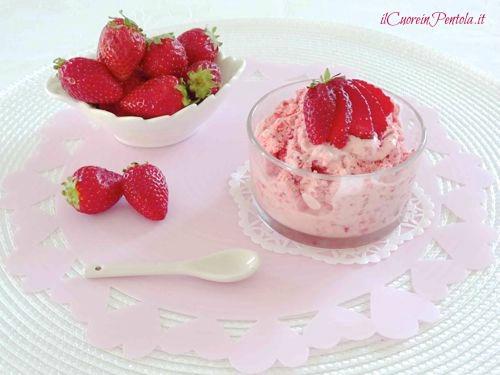 gelato alla fragola facile e veloce