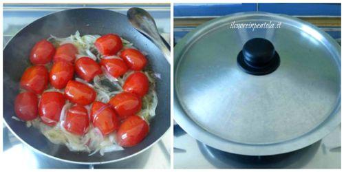 saltare pomodori in padella
