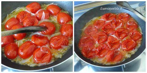 coprire e lasciare cuocere pomodori