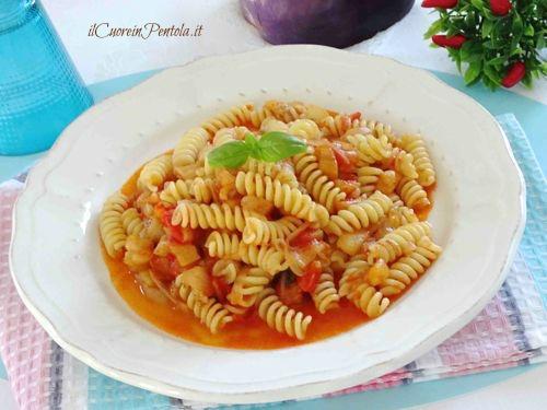pasta con le melanzane non fritte ricetta