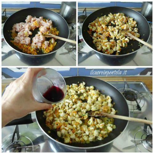 rosolare e sfumare pollo