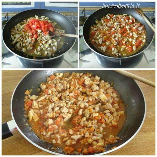 aggiungere pomodoro e cucinare