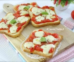 Pizzette di pancarrè