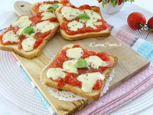pizzette di pancarre veloci