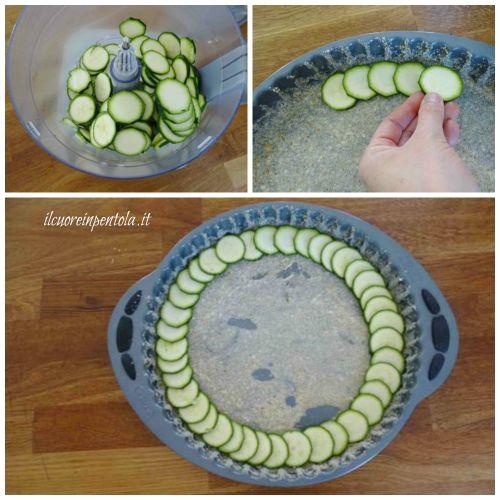 affettare zucchine a rondelle