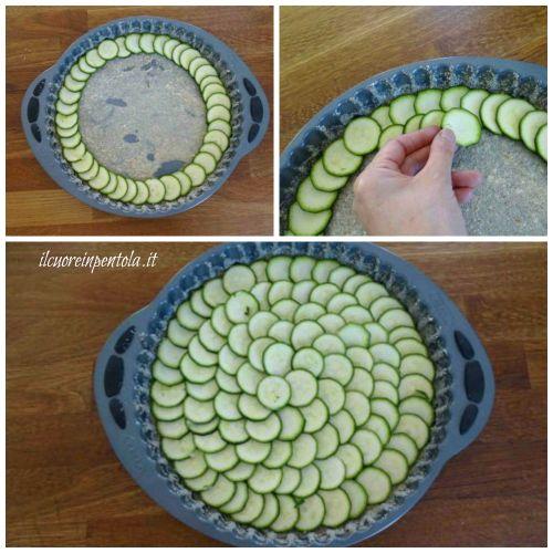 disporre zucchine a raggiera
