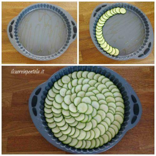 disporre zucchine nella teglia