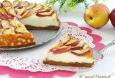 Cheesecake cotta alle pesche