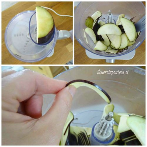 affettare melanzane