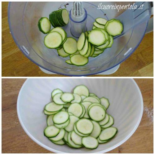 affettare zucchine molto sottili