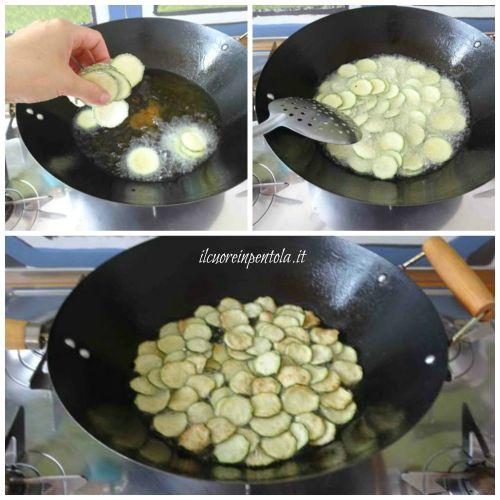friggere chips di zucchine