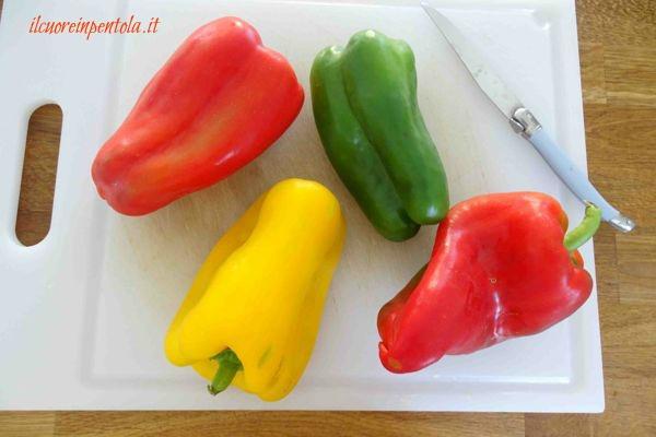 peperoni rossi gialli verdi