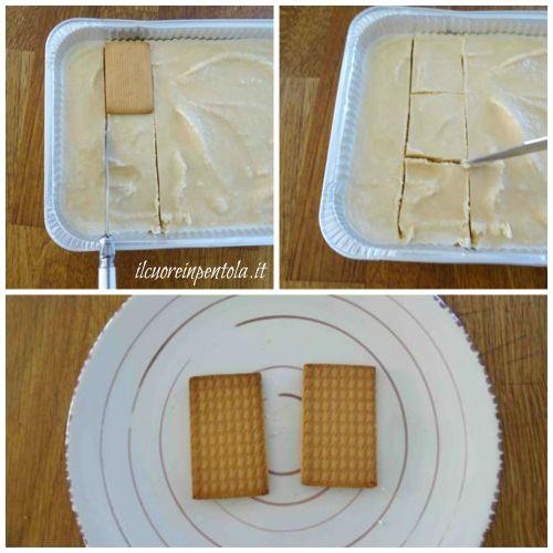 ritagliate dei rettangoli di gelato