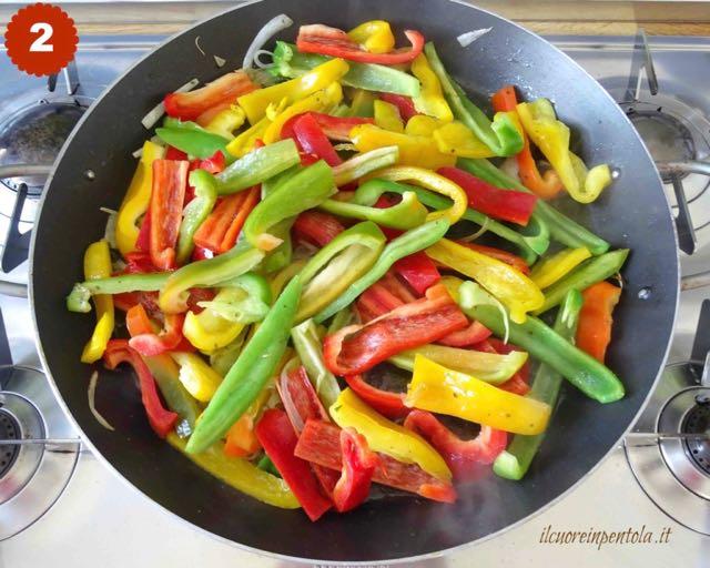 aggiungere peperoni