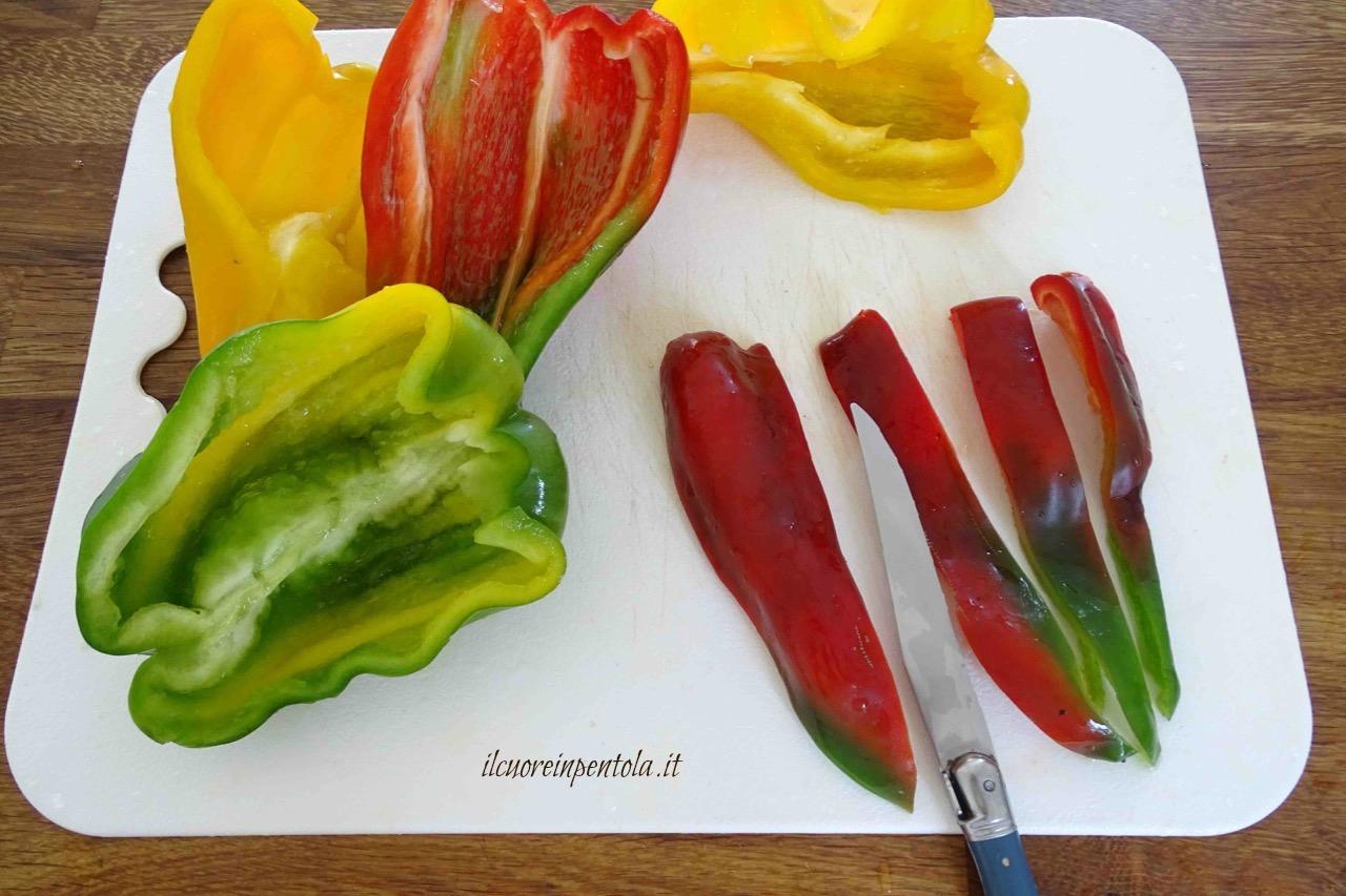 Peperoni gratinati – Ricetta al forno Il Cuore in Pentola