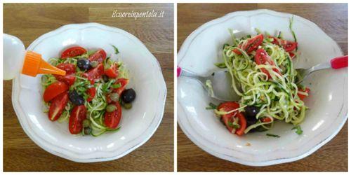 condire spaghetti di zucchine