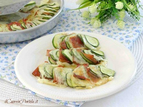 zucchine al forno con speck e formaggio ricetta
