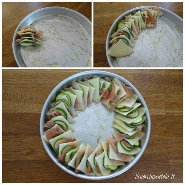 adagiate le zucchine sulla teglia