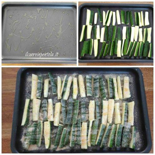 disporre zucchine sulla teglia