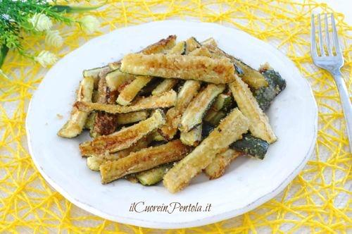 Zucchine croccanti al forno ricetta zucchine croccanti for Cucinare le zucchine