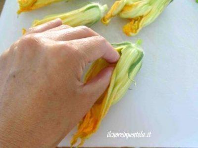 Come pulire i fiori di zucca