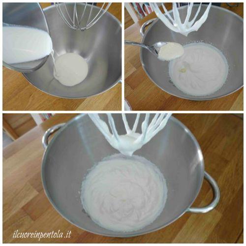 montare panna e aggiungere crema