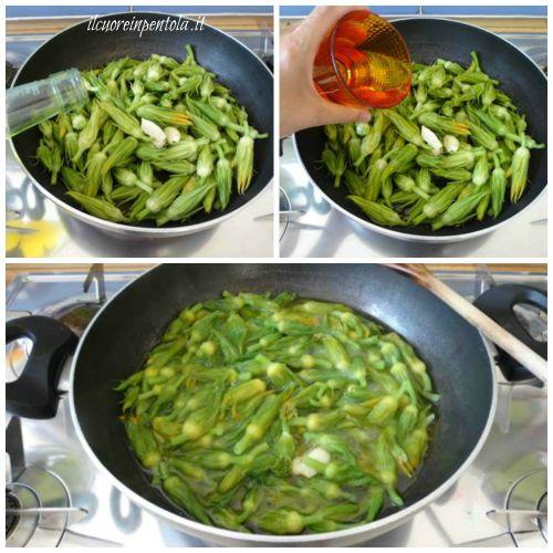 cuocere fiori di zucca