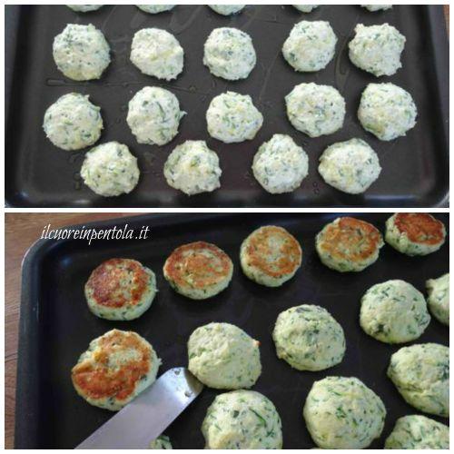 cuocere polpette di zucchine in forno