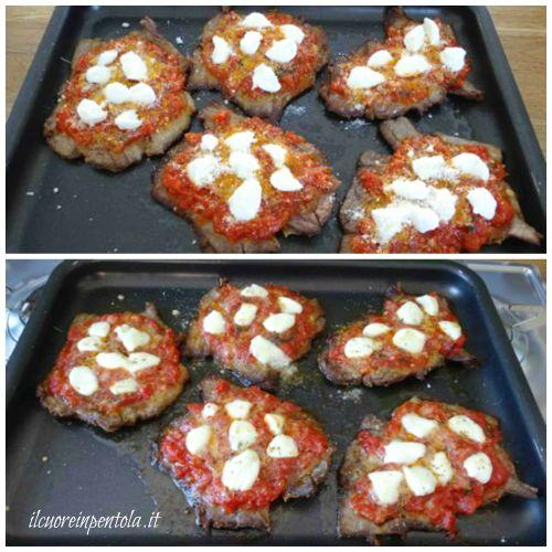 infornare carne alla pizzaiola