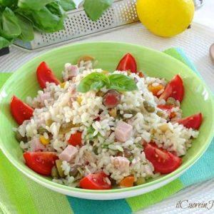 come fare l'insalata di riso classica