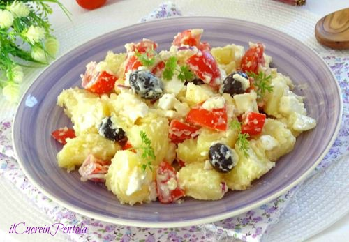 insalata di patate alla greca