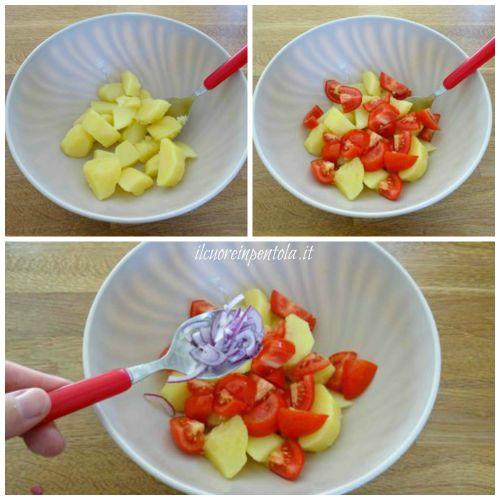 aggiungere pomodori cipolle e pomodori secchi