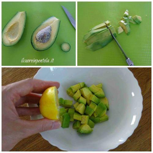 pulire e tagliare avocado