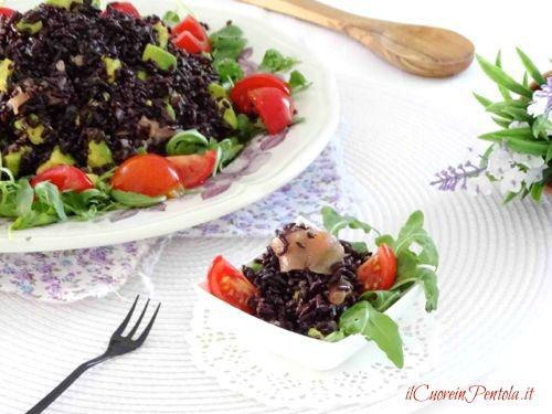 insalata di riso venere in bicchierini monoporzione