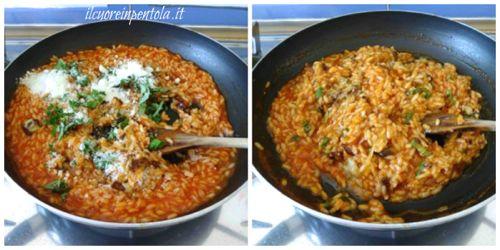 aggiungere basilico e formaggio