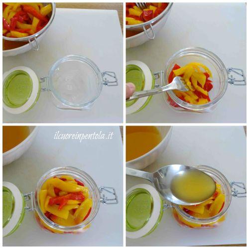 mettere peperoni nel barattolo