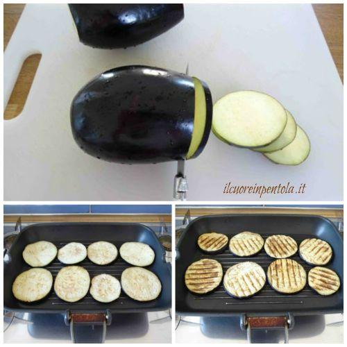 tagliare melanzane e grigliarle