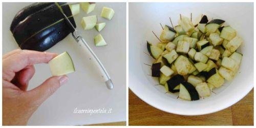 salare e mettere a scolare melanzane