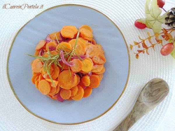 carote in padella in agrodolce
