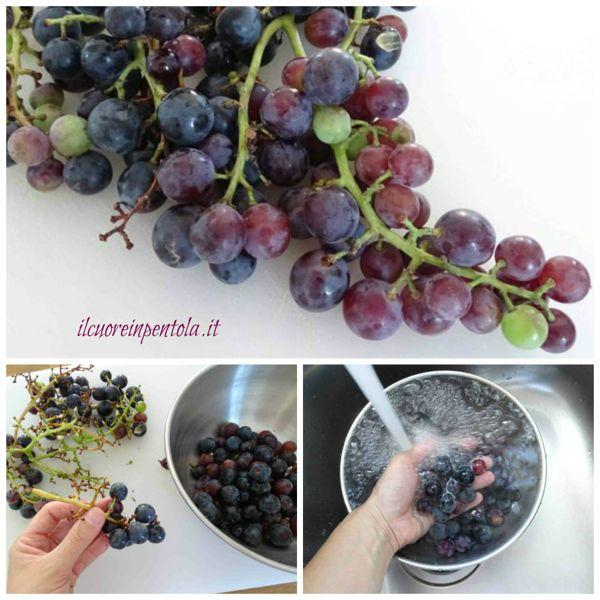 pulire uva fragola
