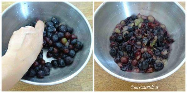schiacciare uva fragola