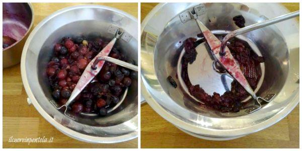 passare acini d'uva