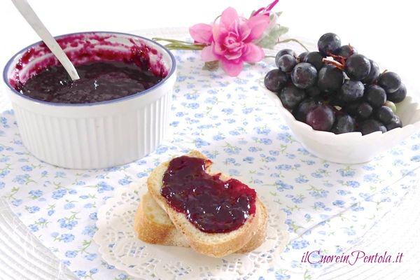 Marmellata di uva fragola ricetta il cuore in pentola for Sognare uva fragola