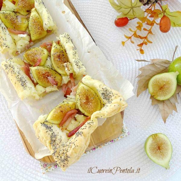 torta salata di pasta sfoglia ai fichi