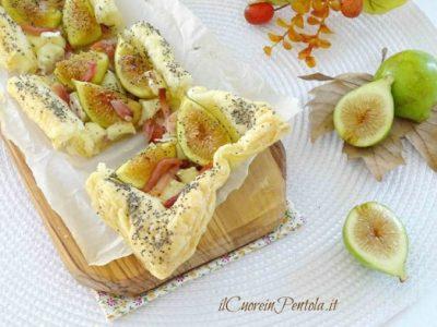 Pasta sfoglia con fichi speck e brie