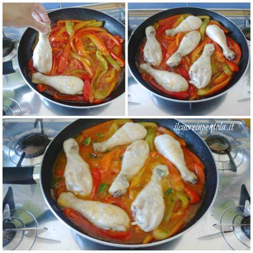 aggiungere pollo e ultimare cottura
