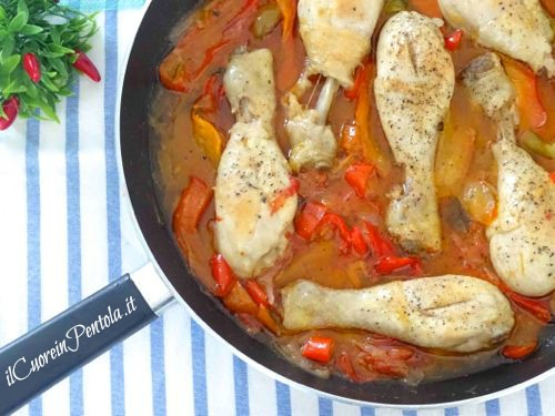 pollo ai peperoni alla romana