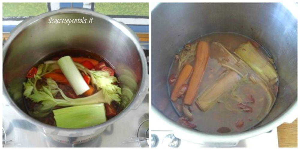 aggiungere aromi e cuocere fagioli